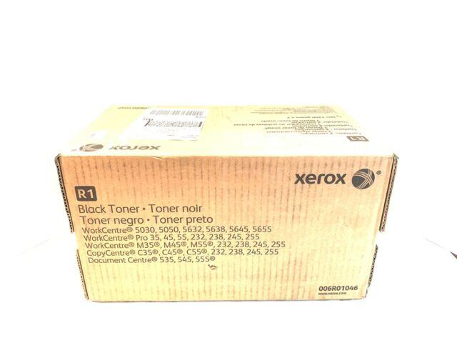 2 Xerox 006R01046 Black Toner Cartridge, w/ 1 Toner Waste Container, Sealed Box