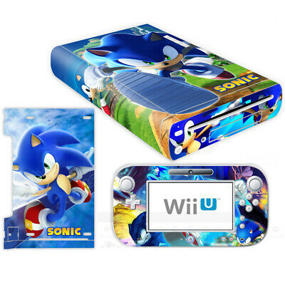 Sonic The Hedgehog Vinyl Skin Decals Sticker Nintendo Wii U Console Controller Ebay