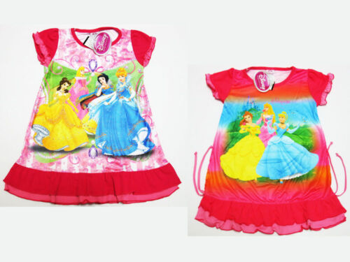 Disney Princess Girl Pink Nighty Dress Sleepwear Size 4-8 age 1-4