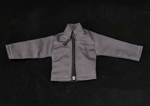 No Figure 1//12 Grey Zipper Jacket for Mezco One:12 SU-JK-DG Marvel Legends