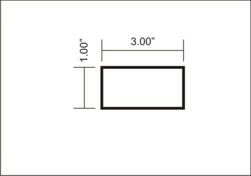 "1/"" X 3/"" ALUMINUM 6061 T6511 SOLID FLAT BAR 12/"" long 1.00/"" Plate NEW Mill Stock"