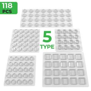 Lot 64 Round Clear Adhesive Cabinet Door Furniture Bumper Noise Dampening Dots
