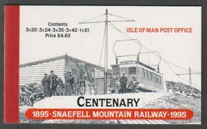 Isle-von-Mann-1995-Snaefell-Mountain-Eisenbahn-Broschuere-MNH-Sg-SB39