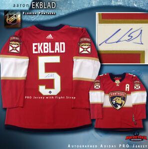 wholesale dealer 71846 53153 Image is loading Aaron-Ekblad-Signed-Florida-Panthers-Red-Adidas-PRO-