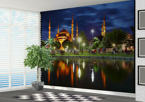 Image Is Loading Wallpaper Mural Blue Mosque Istanbul Turkey Photo Wall