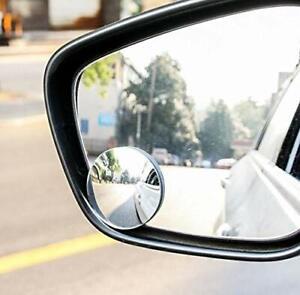 2pcs Base adhésive noire Angle réglable arrière vue angle mort miroir voiture