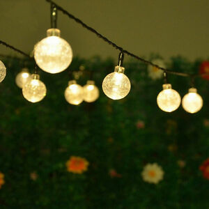 Retro Christmas String Lights : Retro Balls String Fairy Lights 10 LED Lamp Christmas Party Wedding Garden Decor eBay