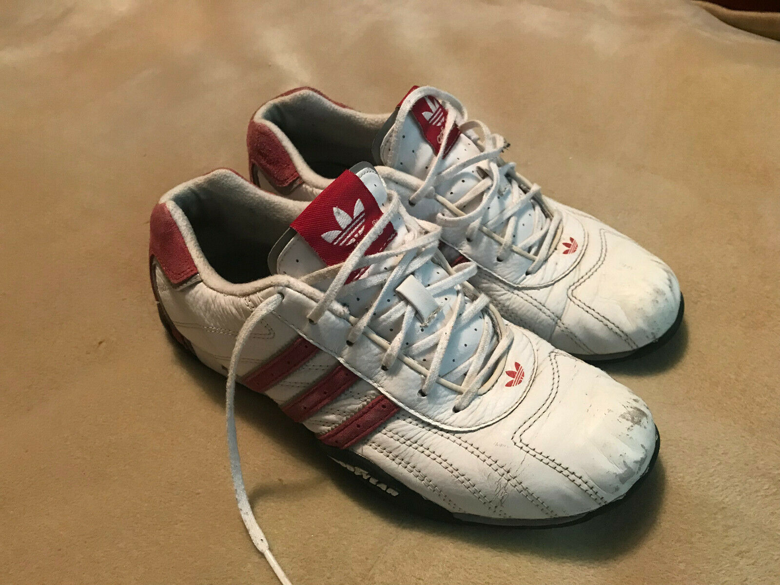 Donne adidas squadra goodyear formatori bianco   pelle rosa di dimensioni abbastanza la vita a 5,5   Ordine economico    Gentiluomo/Signora Scarpa