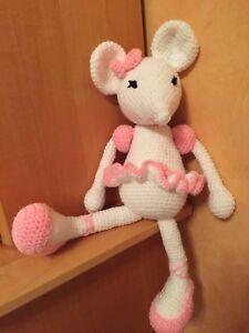 Doudou Souris Fait Main Au Crochet