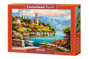 "Castorland Puzzle 2000 Pieces VILLAGE CLOCK 92x68cm/36""x27"