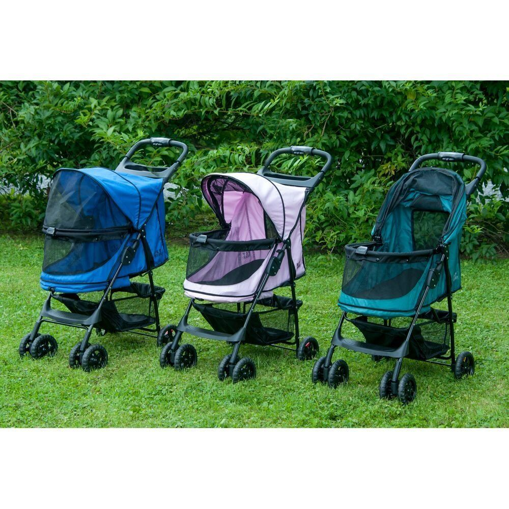 Happy Trails NOZIP Pet Stroller by Pet Gear in Emerald,Sapphire or Pink Diamond