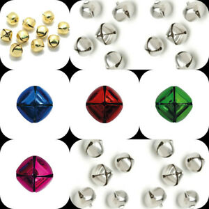20//50 MULTI COLOURED 8MM BELLS # CRAFTS//JEWELLERY MAKING