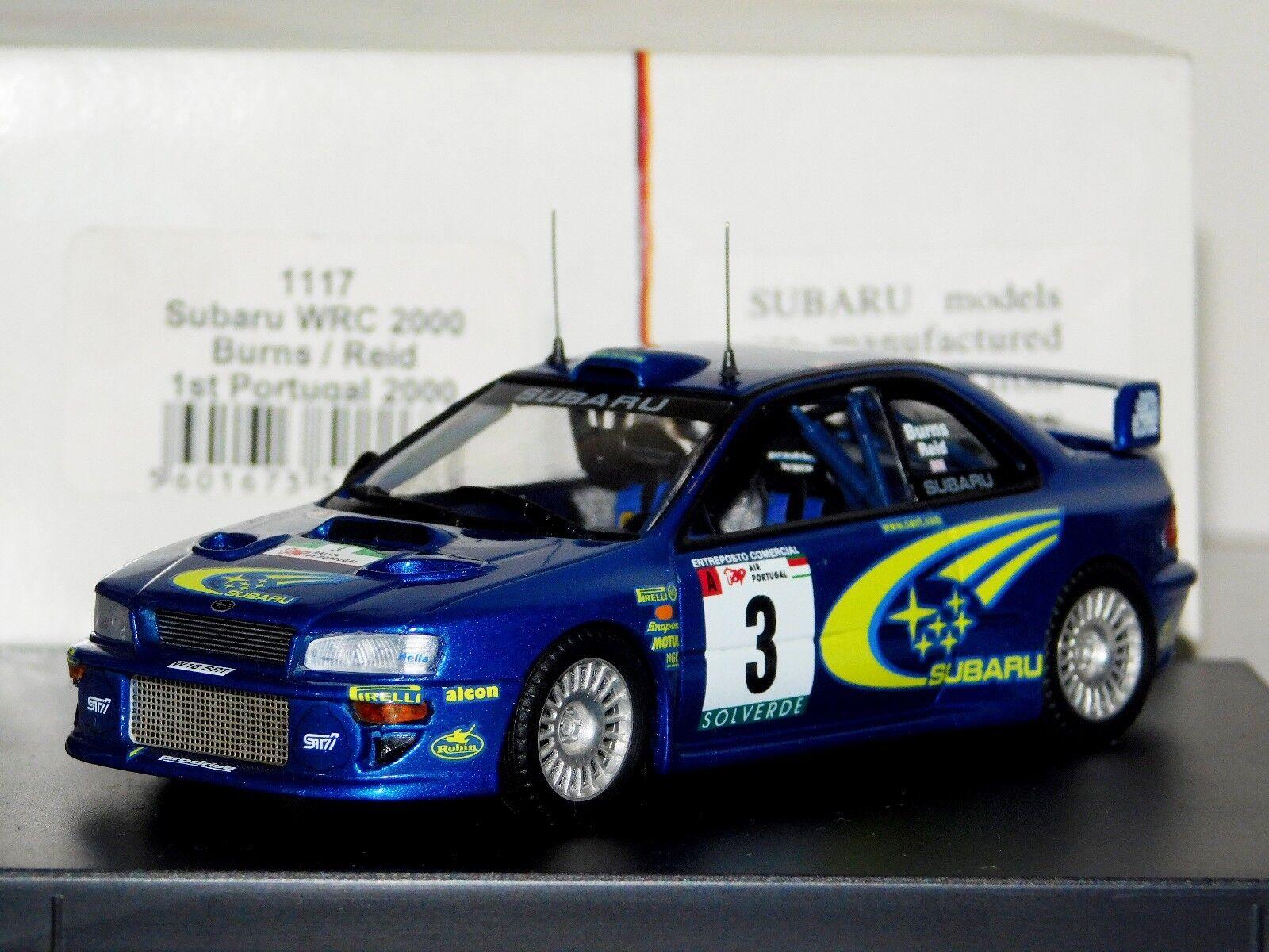 nuevo listado Subaru Impreza WRC  3 Winner Portugal Portugal Portugal 2000 quemaduras Reid Trofeu 1117 1 43  mejor marca