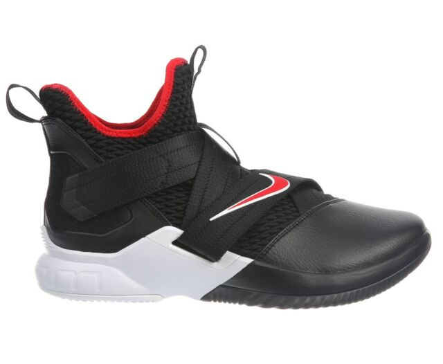 3883b73affa0 Nike Lebron Soldier 12 Bred Mens AO2609-001 Black Red Basketball Shoes Size  10.5