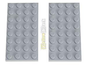 LEGO 2 x Platte Bauplatte 3035  4x8   neu hellgrau