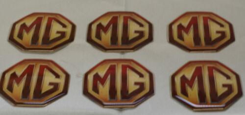 6X GENUINE MG ROVER PROMO BBADGES SELF ADHESIVE MGS ZR ZS ZT MGB V8 MGF TF F