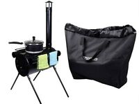 Portable Military Camping Hunting Ice Fishing Cook Wood Stove Tent Heater W/ Bag on sale