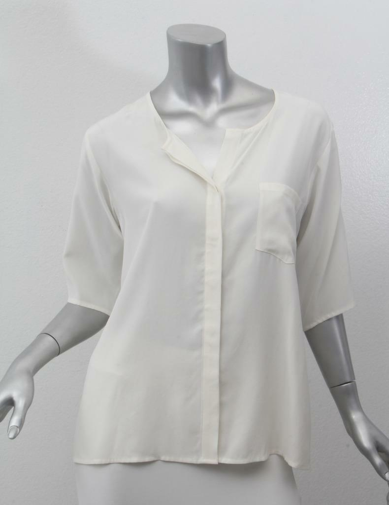 FRAME damen Weiß OverGrößed Button Up Long Sleeve Shirt Blouse Top XS NEW