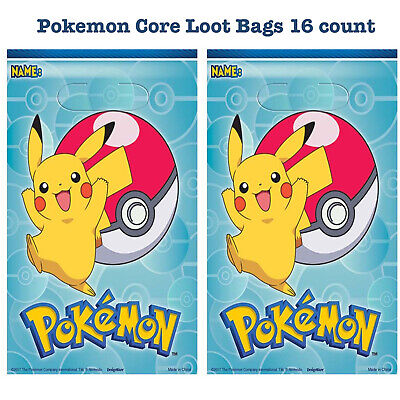 Pokémon Core Loot Treat Gift Bags Birthday Party Favor Supplies ~ 16 count | eBay
