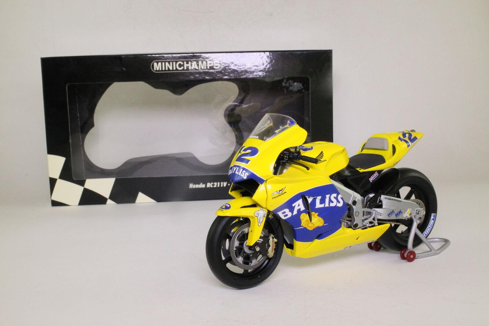 punto de venta de la marca Minichamps 122 051012; Honda RC211V; 2005 MotoGP, Troy Bayliss; Bayliss; Bayliss; Excelente En Caja  con 60% de descuento