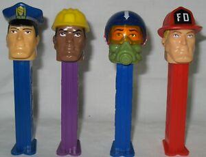 4-PEZ-EMERGENCY-HEROES-BLACK-CONSTRUCTION-WORKER-FIREMAN-POLICEMAN-PILOT