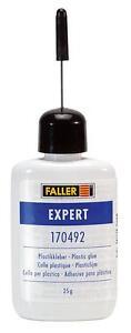 FALLER-ALL-SCALE-EXPERT-PLASTIC-GLUE-25G-BOTTLE-SHIPS-FROM-USA-170492