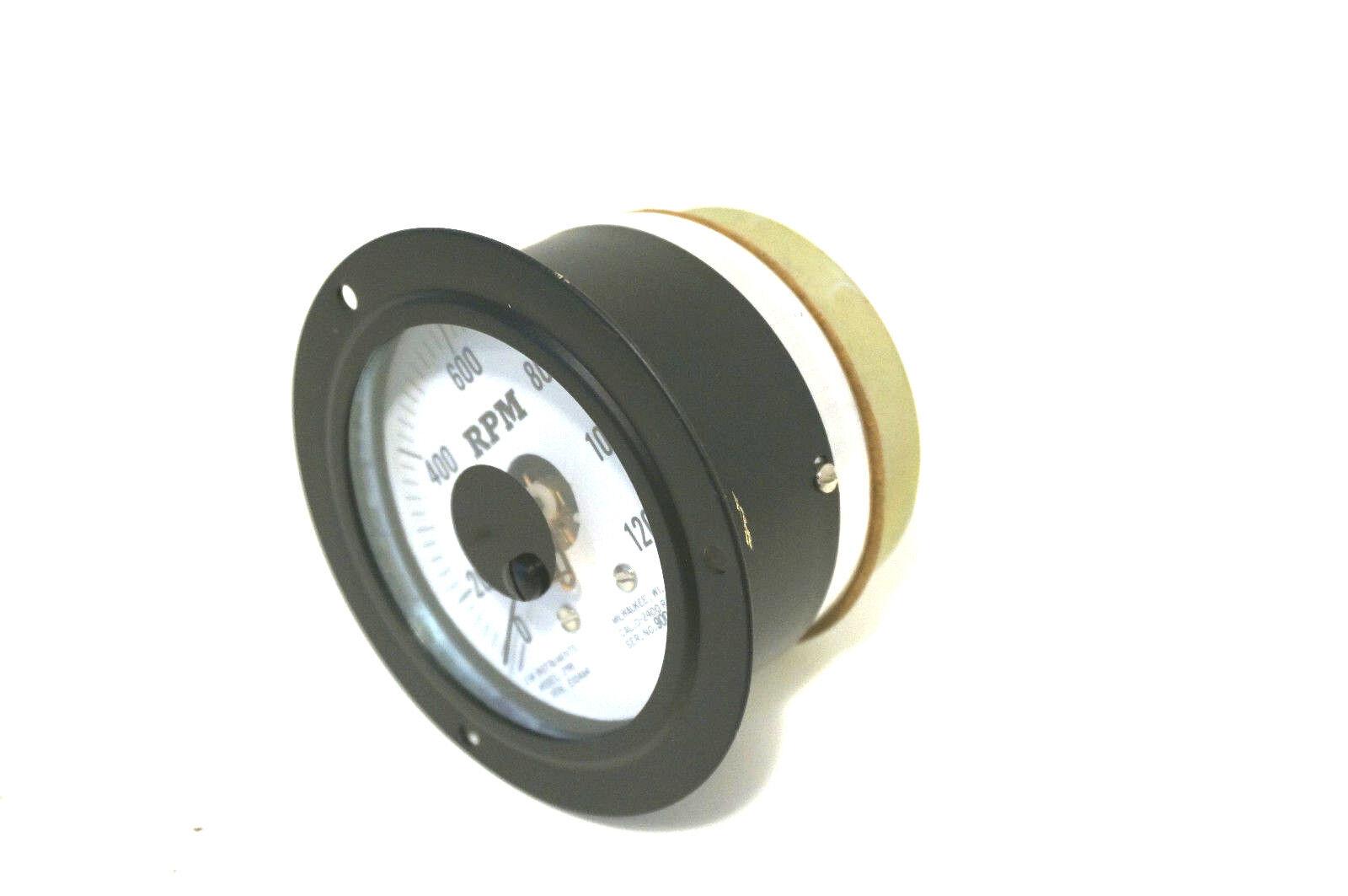 NEW EM  INSTRUMENTS MODEL 298 TACHOMETER DB-40   0-1200 RPM