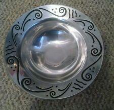 "Lenox Silver Tone & Black Metal Small 8"" Bowl - Spyro Holloware NEW"
