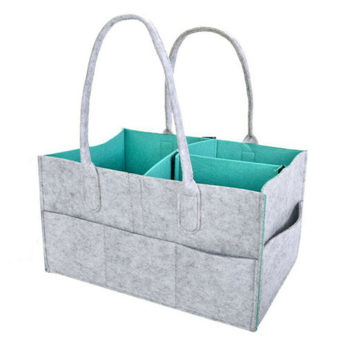 Baby Diaper Organizer Caddy Felt Changing Nappy Storage Carrier Bag