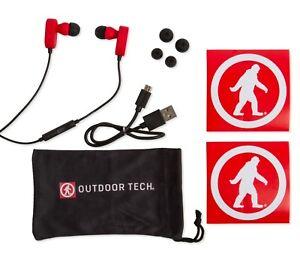 Outdoor Tech Tags 2.0, Bluetooth, Wireless, Sweatproof In-Ear Earbuds, Red