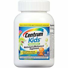 4 Pack Centrum Kids Chewables Multivitamin/Multimineral Supplement 80 Tablets Ea