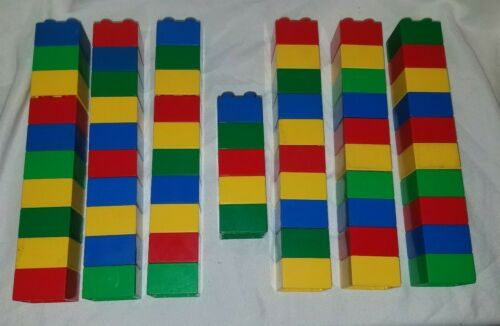 Details about  /Lot of 65 Lego Duplo 2x2 brick Piece Replacement Blue Green Red Yellow Primary