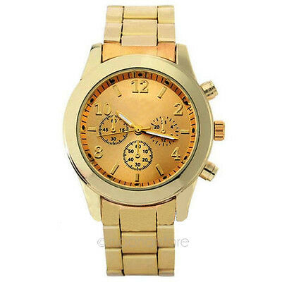Chic Rose Gold Stainless Steel Quartz Wrist Watch for Women Xmas Date Party Gift