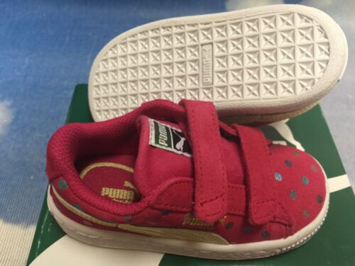 Puma Kids Girls Suede Dotfetti Hook /& Loop Retro Sneaker Toddler Size 6 to 10