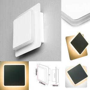 LED-Reflector-de-Pared-Aplique-Lampara-Giratoria-IP44-5W-Angular-Exterior-Blanco