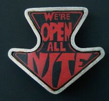 WE'RE OPEN ALL NITE ARROW SEX FUNNY HUMOR BELT BUCKLE BOUCLE DE CEINTURE