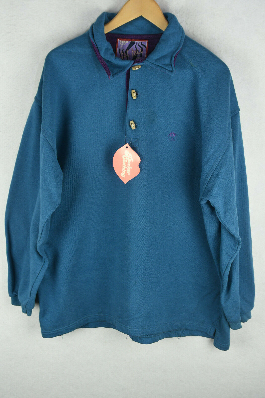 FAT FACE Mens POLO Sweatshirt VINTAGE MOUNTAIN CLIMBER Sweater Large P53