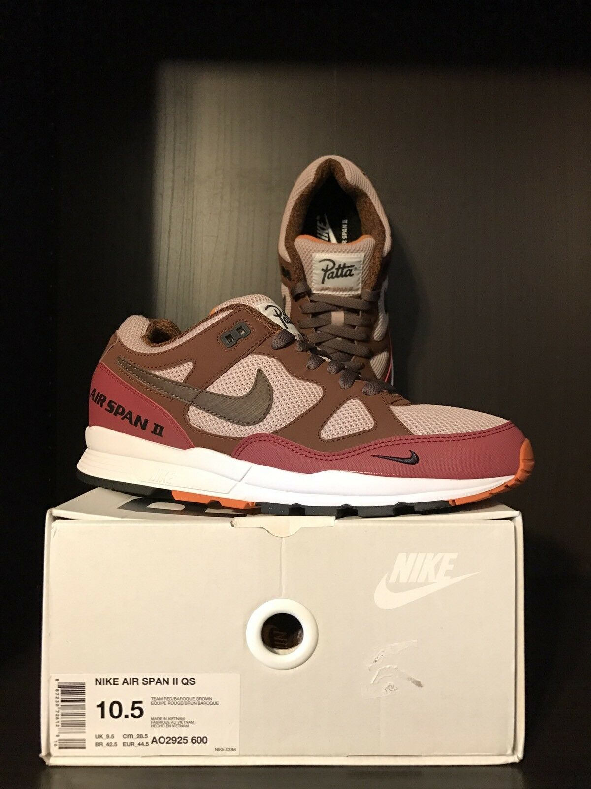 UNRELEASED Patta x Nike Air Span 2 QS   Quickstrike - Size 10.5 - RARE