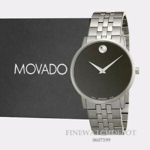 938bffe934296 Authentic Movado Men s Museum Classic Silver Tone Stainless Steel ...