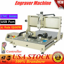 4 Axis 6090 Usb Cnc Router 3d Engraver Metal Milling Engraving Machine And Rc