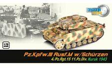 DRAGON 60663 - 1/72 WWII DEUTSCHER PZ.KPFW.III AUSF. M MIT SCHÜRZEN - 1943 - NEU