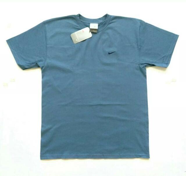 f15279a96441b Vintage Nike Swoosh Logo T Shirt Mens Medium 90s 2000s Blue Style 122245
