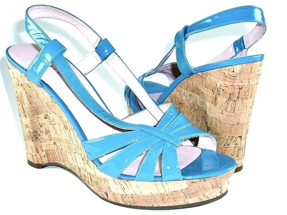 Marc Jacobs Women's Cork Wedge Sandals bluee US US US Size 9.5 M; EU 39.5 b284ed