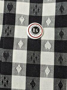 Robert-Graham-Dress-Shirt-Large-White-Black-Check-Ace-Diamond-Card-casino