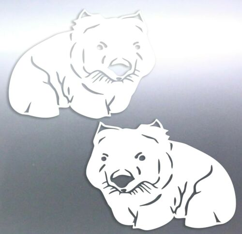 Cute Wombat Australian Animals Vinyl cut Sticker car boat aussie made /& design