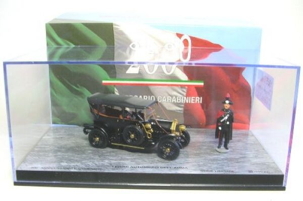 Fiat 0 200 ° Anniversary carabineros with 2 figures (nero) 1 43