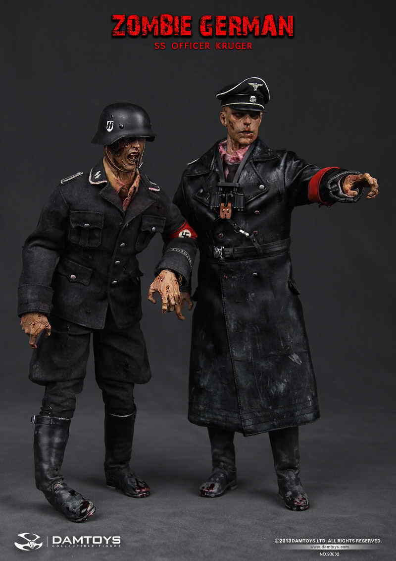 Dam Juguetes 1 6 Zombie alemán oficial SS Kruger & SS soldado Pvt Jakob enviar EMS