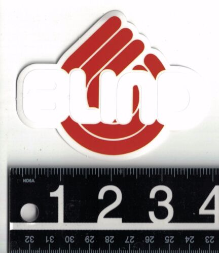 BLIND SKATEBOARDS STICKER//DECAL Blind Skateboards White//Red 3.75 in x 3 in Decal