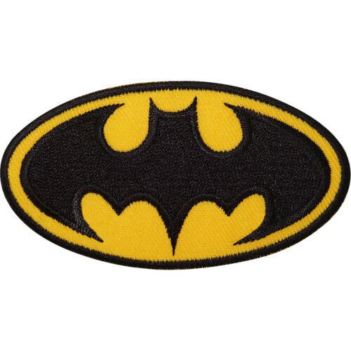 Batman Logo Embroidered Iron Sew On Patch Fancy Dress Costume T Shirt Bag Badge