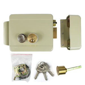 New Electric Lock for Video Doorbell Intercom Access Control Security+3*Keys Top